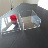Support acrylique de luxe d'étalage de chaussure de boîte de présentation d'espadrille