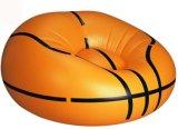 Bank Recliner van pvc van het Ontwerp van het basketbal de Opblaasbare Luie