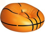 Sofá perezoso inflable del Recliner del PVC del diseño del baloncesto