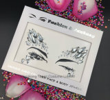 El SGS prueba la etiqueta engomada de acrílico del tatuaje del Rhinestone del Eyeliner cristalino principal de la etiqueta engomada (S055)