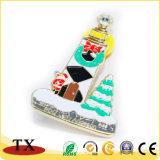 La police en métal de tour de Pin de revers de Noël Badge avec des chapeaux de guindineau