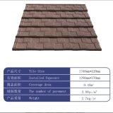 Precios revestidos de los azulejos de azotea del metal de construcción de Canadá de la piedra colorida caliente del material