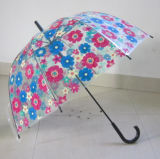 6mm Welle Big Bowknot Printing Cover Poe Regenschirm für Großhandel (YSN25)