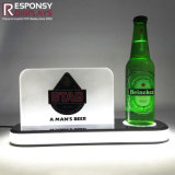 POS pequeños cerveza Counter Display Display iluminado de 3 niveles de vino de acrílico de Rack de soporte de pantalla