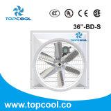 """Ventilateur de commande par courroie avec le ventilateur 36 de cône de mur de fibre de verre d'obturateur """""""