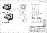 Wijfje 3.5mm AudioHefboom 3 Speld pj-376m van Wnre de Hefboom van de Telefoon