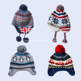 機械を作ることをする冬の帽子のスカーフ