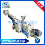 El tornillo de doble tubo de alimentación de agua de PVC haciendo de la línea de Extrusión de perfil