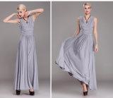 秋の冬の新しいヨーロッパの大きいサイズの女性の優雅なひだはパックの情報通の鉛筆の服の長い袖の夕方のパーティー向きのドレスを細くする