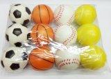 6.3cmのソフトボール様式の反圧力PUの球