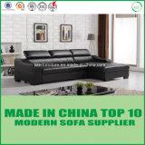 家具の居間L形の革ソファーベッド
