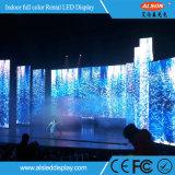 P4.81 visualización de pared de interior curvada del alquiler LED para el fondo de etapa