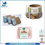 Collant d'étiquette des aliments estampé par coutume de résistance thermique