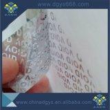 Etiqueta de sellado anti-falsificación de la caja de embalaje