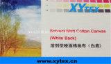 Растворитель матовое полотно из хлопка белого цвета задней панели цифровой печати 380 GSM 10s*10s