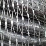 ステンレス鋼動物園の囲うことのためのHandwovenロープの網