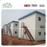 Flaches Dach-ökonomisches vorfabriziertes Haus für Schlafsaal/Arbeitskraft-Lager/Büro und Schule