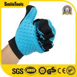 Les deux Main Paire de gants de toilettage pour animaux de compagnie brosse sèche Remover