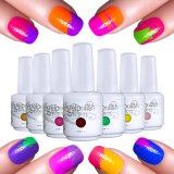 Changement de couleur de la conception des arts d'Ongles polonais de lumière UV Gel