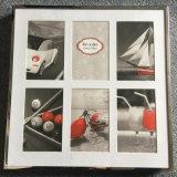 Blocco per grafici della foto del metallo di Deco della parete con 6 che si aprono
