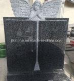 G654 de Donkere Grijze Grafsteen van het Ontwerp van het Boek van de Engel van het Graniet
