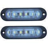 Luz 4inch 9W DRL de la señal de peligro del alto brillo LED para el carro