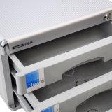 3 выдвижных ящиков алюминия шкаф с замком серебристый цвет