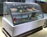Réfrigérateur en verre commercial d'étalage de gâteau/contre- réfrigérateur d'étalage de gâteau (S850A-M)