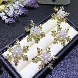 Il lusso all'ingrosso progetta i monili per il cliente delle donne del Brooch della perla di Snowflower Mikimoto