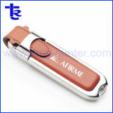 Lecteur de mémoire flash USB en cuir pour cadeau