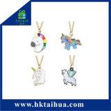 Collana Pendant della clavicola dell'unicorno della glassa placcata argento per la decorazione