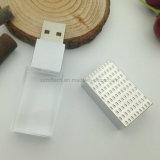 Graveer van het LEIDENE van het Embleem de Stok Pendrive Geheugen van het Kristal 4GB USB