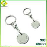 China-Lieferanten-kundenspezifisches unbelegtes Metallnetter Schlüsselring für Geschenk