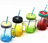 卸し売りColoredはHandleの450ml Glass Mason Jarを導くFree