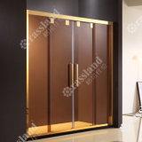 Schermo di acquazzone di lusso della stanza da bagno di vetro di scivolamento della qualità superiore 304SUS di prezzi all'ingrosso