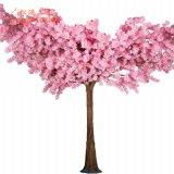Plástico interior japoneses Cherry Blossom Tree com seda Artificial planta árvores para decoração