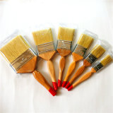 Brosse de peinture avec manche en bois de l'Imitation de soies de nettoyage