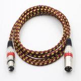 Colorido 3 pines de aleación de zinc envoltura de nylon Cable XLR para micrófono