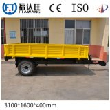 Pvc bedekte de Enige Aanhangwagen van de Kipwagen van het Nut van de Aanhangwagen van de Vrachtwagen van de Kipper van de As Semi met een laag