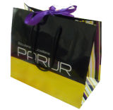 Sacco di carta su ordinazione del regalo di lusso della maniglia di stampa e della corda di acquisto
