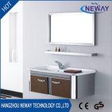 Tipo clásico cabina de la vanidad del cuarto de baño del acero inoxidable con el espejo