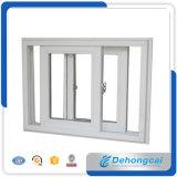 Подгонянное двойника окна профиля UPVC/PVC окно пластичного стеклянное/сползая окно с сетью москита