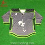 Рубашки хоккея на льду имени 100%/номера вышивки полиэфира изготовленный на заказ