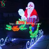 Sculpture chaude en lumière de corde de la vente LED