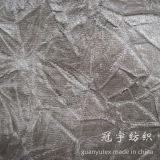 Tissus composés de polyester de Stratch de velours pour des couvertures de sofa