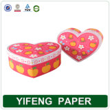 Forma de Corazón Caja de Regalo en papel rosa (FA-064)