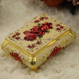 수정같은 기념품을%s 다채로운 금속 노리개 상자 보석 상자