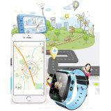 Montre de traqueur des gosses GPS avec la lampe-torche (D26)
