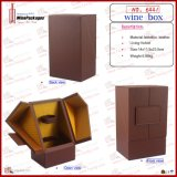 Drawer (6441)를 가진 유일한 PU Leather Single Wine Box