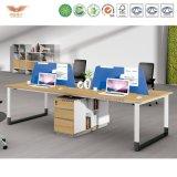 Poste de travail en bois modulaire moderne de meubles de bureau (H90-0215)